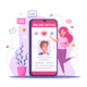 Online Dating Smartphone Composition - GraphicRiver Item for Sale