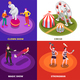 Circus Concept Icons Set - GraphicRiver Item for Sale