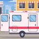 Paramedics Ambulance Cartoon Composition - GraphicRiver Item for Sale