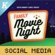 Movie Night Social Media Templates - GraphicRiver Item for Sale