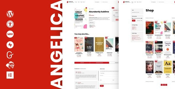 Angelica – Accessible Bookstore WordPress theme Preview