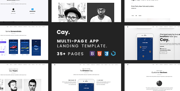 Cay — Multi-Page App Landing Template