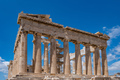 Athens, Greece. Parthenon temple on Acropolis hill, bright spring day. - PhotoDune Item for Sale