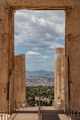 Athens, Greece. Propylaea in the Acropolis, monumental gate, spring sunny day. - PhotoDune Item for Sale