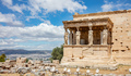 Athens, Greece. Erechtheion with Cariatides Porch on Acropolis hill, blue sky background - PhotoDune Item for Sale