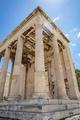 Athens, Greece. Erechtheion Temple of Athena on Acropolis hill, blue sky background - PhotoDune Item for Sale
