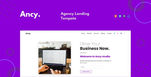 Ancy — Agency Landing Template