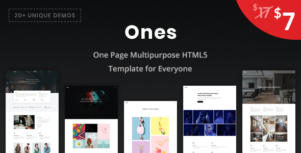 Ones - One Page Multipurpose HTML5 Template