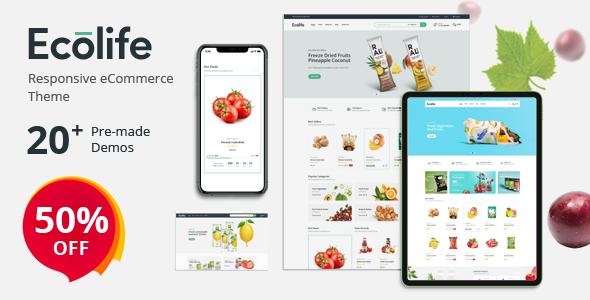 Ecolife - Organic, Food, Cosmetic & Multipurpose Prestashop Theme