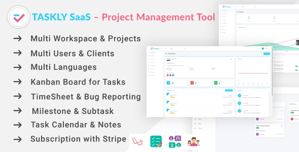 TASKLY SaaS – Project Management Tool Download