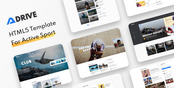 Adrive - A Running Club and Sports Website Theme, Sports Blog