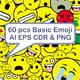 60 Piece Emoji Set - GraphicRiver Item for Sale