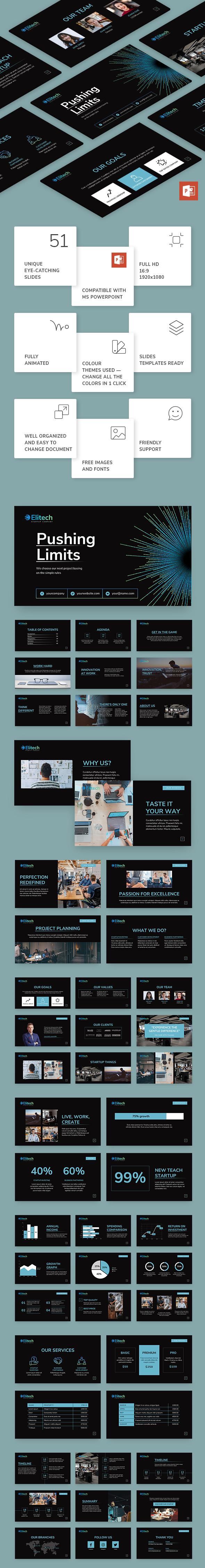 Tech Startup PowerPoint Presentation Template