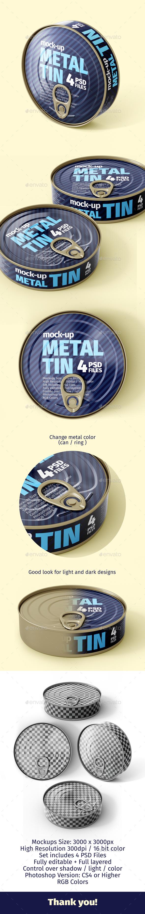Metal Tin Mock-Ups