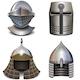 Vector Knight Helmet Set - GraphicRiver Item for Sale