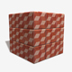 Red Cube Patterned Tiles Seamless Texture - 3DOcean Item for Sale