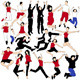 20 Vector Jumping People Silhouettes - GraphicRiver Item for Sale