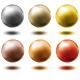 set of metal balls,... - GraphicRiver Item for Sale