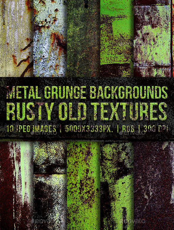 Metal Grunge Backgrounds Rusty Old Textures