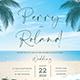 Beach Wedding Invitation - GraphicRiver Item for Sale