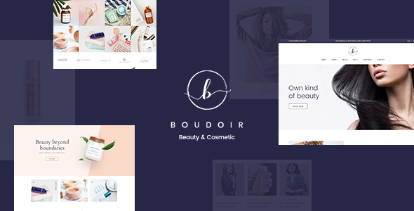 Boudoir – Minimal Cosmetic WooCommerce Theme Preview