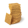 Stack of salted mini crackers with tomato and basil - PhotoDune Item for Sale