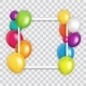 Color Glossy Happy Birthday Balloons Banner - GraphicRiver Item for Sale