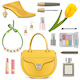 Vector Spring Female Accessories Set 3 - GraphicRiver Item for Sale