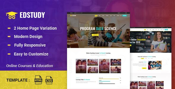 Edstudy - Education LMS and Courses HTML5 Template