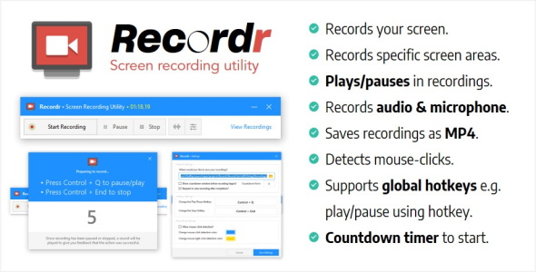 Recordr | Screen Recording Utility Download