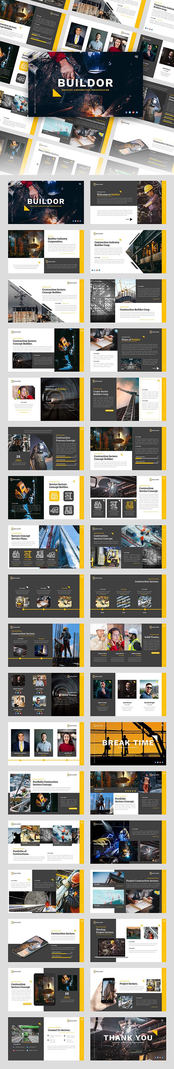 Buildor - Contruction Industrial Googleslide Template