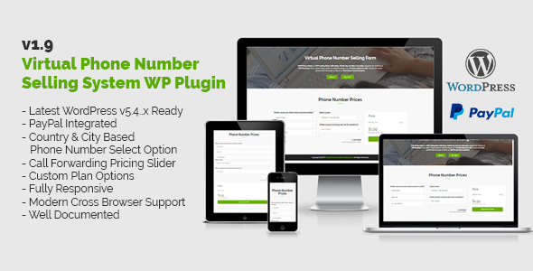 Virtual Phone Number Selling System WordPress Plugin