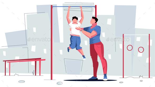 Sport Dad Horizontal Composition