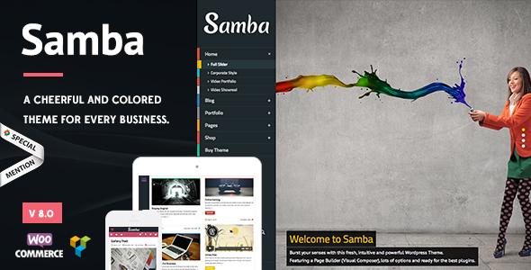 Samba - Colored WordPress Theme Download