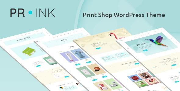 Prink – Print Shop WordPress Theme Preview