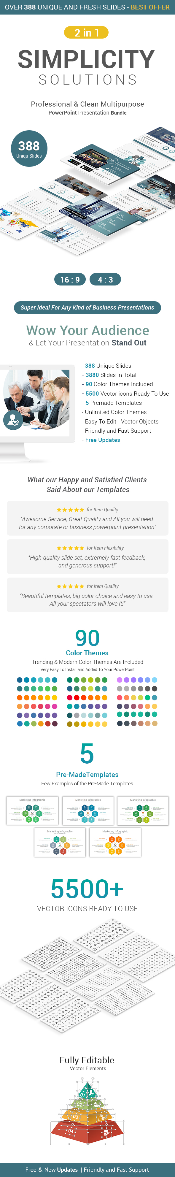 Simplicity Business Solutions - 2 In 1 PowerPoint Presentation Template Bundle