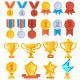 Achievement Award Set - GraphicRiver Item for Sale