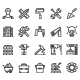 Construction Tool Line Icon Set - GraphicRiver Item for Sale