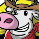 Cow Cowboy Vector Mascot - GraphicRiver Item for Sale