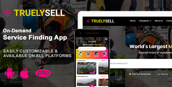 TruelySell – On-demand Service Marketplace, nearby Service Finder and Bookings Web, Android and iOS Download