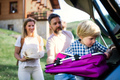Family with small child going on trip in countryside - PhotoDune Item for Sale