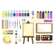 Painting Tools Creative Materials for Workshop - GraphicRiver Item for Sale