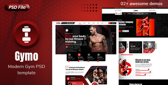 Gymo -  Modern Gym and Fitness PSD Template
