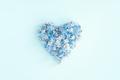 Blue Tender Heart of Fresh Flowers - PhotoDune Item for Sale