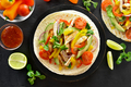 Tacos with chicken meat and vegetables - PhotoDune Item for Sale