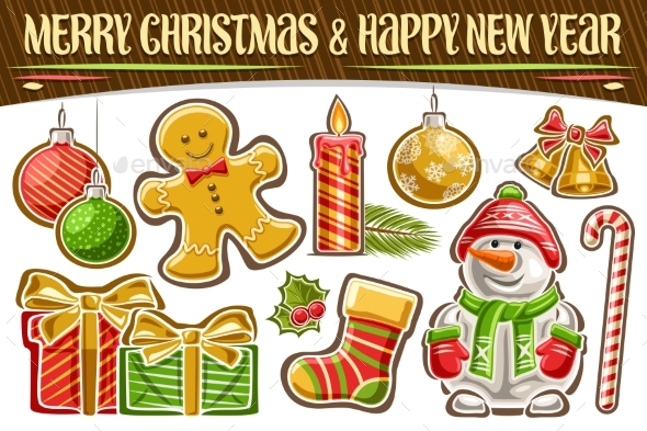 Vector Set for Christmas and New Year