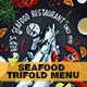 Seafood Trifold Menu - GraphicRiver Item for Sale