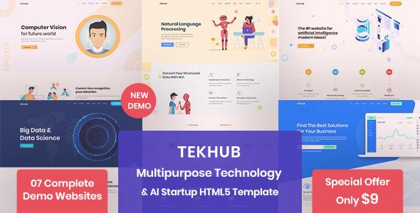 Tekhub - Multipurpose Technology, AI Startup & SAAS HTML5 Template