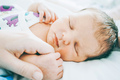 Lovely real image of a new born in her first day of life - PhotoDune Item for Sale