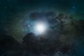 shining light in night sky - PhotoDune Item for Sale